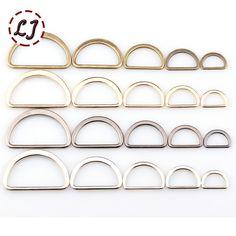 20 unids/lote 15mm/20mm/25mm/30mm/40mm oro plata bronce negro tipo D anillo de Conexión de aleación de zapatos bolsas de Hebillas de metal Accesorios de BRICOLAJE