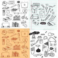 School Doodle Vector
