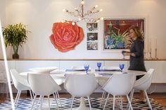 Open house | Elisa e Paul. Veja: http://www.casadevalentina.com.br/blog/detalhes/open-house--elisa-e-paul-3133 #decor #decoracao #interior #design #casa #home #house #idea #ideia #detalhes #details #openhouse #style #estilo #casadevalentina #diningroom #saladejantar