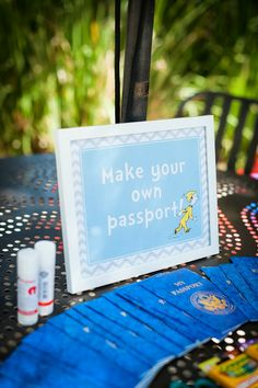 DIY Pretend Passports - Dr. Seuss Oh the Places You'll Go Party - FREE party printables!