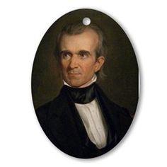James K. Polk Christmas Ornament
