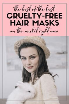Save the bunnies!  Do the animals and your hair a favor and check out these top-rated cruelty-free hair masks.  #AffiliateLink #CrueltyFree #CrueltyFreeHair #CrueltyFreeHairProducts #HairMasks #HealthyHair #TopRatedHairMasks