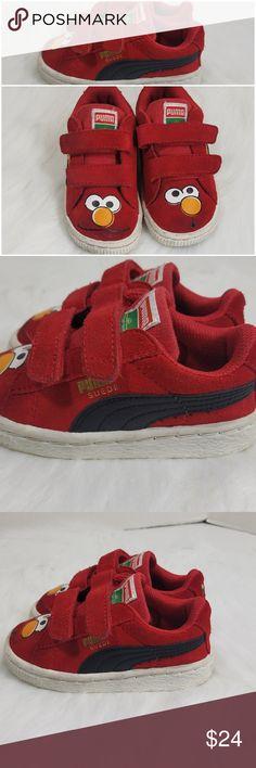 4d175dbdec36 Puma Sesame Street Elmo Red Suede Shoes Sz 6J
