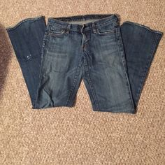 Citizens for Humanity jeans size 27 Need these gone! Citizen for Humanity jeans. Love these, but no longer wear them as often as I'd like. There is a small stain from paint on the pant leg (picture #4) but otherwise in great condition. Please no trades or Ⓜ️ or ️️ Citizens of Humanity Jeans Flare & Wide Leg