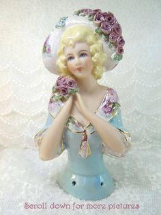 Porcelain Half Doll - Pincushion - Esther
