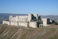 """Krak des Chevaliers also called Crac des Chavaliers, is a Crusader castle in Syria and one of the most important preserved medieval castles in the world. The site was first inhabited in the 11th century by a settlement of Kurds; as a result it was known as Hisn al Akrad, meaning the """"Castle of the Kurds""""."""