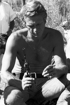 "Steve McQueen during the making of ""Nevada Smith"""