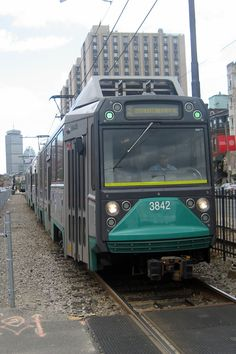 """The """"B"""" Branch of the Green Line, also called the Commonwealth Avenue Branch or Boston College Branch, on the Massachusetts Bay Transportation Authority (MBTA, or T for short) runs on a surface right-of-way down the middle of Commonwealth Avenue.  After going underground via the Blandford Street Incline, the tracks merge with the """"C"""" and """"D"""" Branches into Kenmore station. From there the Boylston Street Subway and Tremont Street Subway carry """"B"""" cars to downtown Boston, with regular service…"""