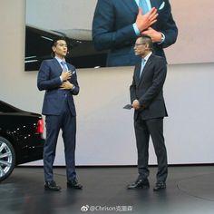 Eddie Peng & Volvo car S90 in Shanghai 19/4/2017