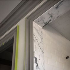 marble door jam to dress up subway tile shower Bathroom Inspiration, Interior Inspiration, Architecture Details, Interior Architecture, French Bathroom, Master Bathroom, Bathroom Marble, Master Shower, Window Jamb