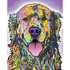 Silence is Golden Retriever Dog Wall Sticker Decal Animal Pop Art by Dean Russo