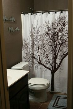 Green and Brown Bathroom Decor - 19 Green and Brown Bathroom Decor , Green and Brown Shower Curtain Oak Tree Decor by Mystic Landscape Foggy Scene and Stream View Tree Curtains, Tree Shower Curtains, Bathroom Shower Curtains, Brown Shower Curtains, Bathroom Wall, Nature Bathroom, Shower Door, Glass Shower, Basement Bathroom