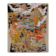 LUXURIOUS ANTIQUE JAPANESE KIMONO FO Throw Blanket on CafePress.com