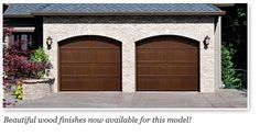 white ranch with brown garage door - Google Search