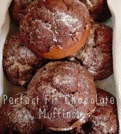 Chocolate Perfect Fit Protein Muffins! Shared by Toritiu! 1 cup Chocolate Perfect Fit Protein 1/2 cup egg whites 3 tbsp cup cacao nibs 1 banana 2 tsp organic cocoa powder 2 tbsp melted coconut oil 1 tbs cinnamon 3 tsp baking powder 1/4 cup of unsweetened chocolate almond milk. Set your oven at 350°. Drop batter into a muffin pan and fill to the top! Bake for 10-15 minutes. Chocolate Almond Milk, Unsweetened Chocolate, Healthy Foods To Eat, Healthy Desserts, Healthy Eating, Protein Muffins, Protein Foods, Perfect Fit Protein, Cacao Nibs