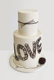 """Tie the Knot"" wedding cake.  What is it about the perfection that is Aussie cake decorators?"