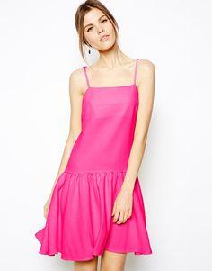 ASOS Peplum Hem Strappy Dress