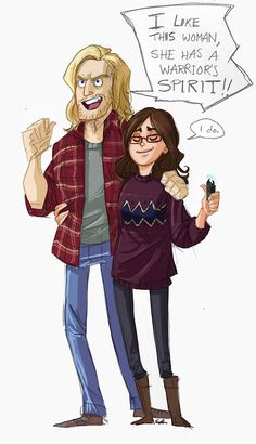 Plot twist in which Thor and Darcy become best friends.