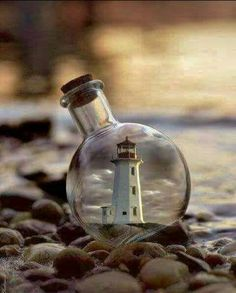 Float Your Boat, Beacon Of Light, Beautiful Fantasy Art, Message In A Bottle, Mini Bottles, Beach Crafts, Model Ships, Wine Decanter, Country Life