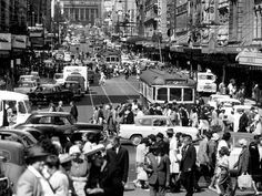 1962: Bourke St, Melbourne. Picture: Herald Sun Image Library
