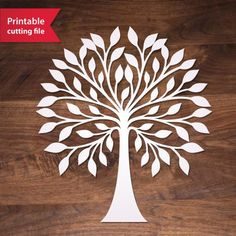 Tree Vector cutting file for Silhouette, Cricut or laser cutting. Stencils, Tree Stencil, Stencil Art, Stencil Patterns, Stencil Designs, Cricut, Tree Templates, Tree Svg, Metal Tree Wall Art