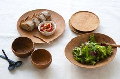 wood bowls and plates