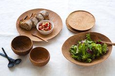 wood bowls and plates