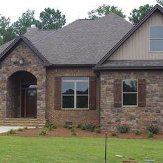 12 Best Stone Brick Combos Images Stone Facade Backyard