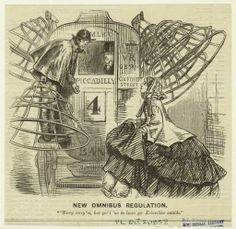 """New Omnibus Regulation."" Punch, 1858,"