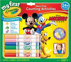 crayola  my  first  Mickey  markers  and  paper