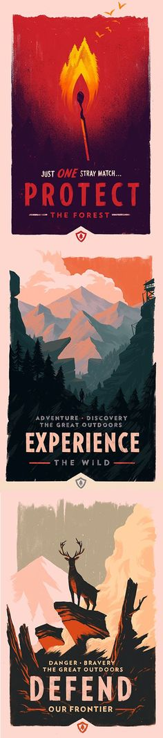 Olly Moss - Firewatch Promotional Posters
