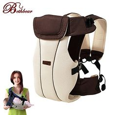 Updated 230 Months Breathable Multifunctional Front Facing Baby Carrier Infant Baby Sling Backpack Pouch Wrap Baby Kangaroo Coffee Color ** Find out more about the great product at the image link.