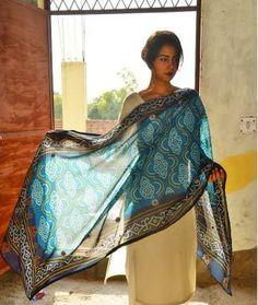 Dune Diaries #handembroidered #silkdupatta #cottondupatta #maheshwaridupatta #jaypore