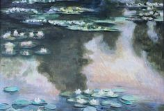 Intero quadro ripreso dalle ninfee di Monet Olio su tela #oil #canvas #painting #waterlilies