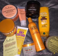 I love shea moisture products. And Cantu.  The people I hang with stay telling me I smell good, like soap, or the tropics
