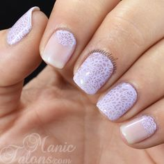 Pink Gellac Classic Pearl with Messy Mansion Stamping