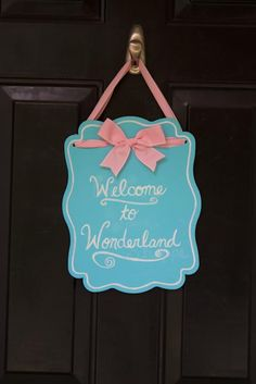 "An ""Alice in Wonderland"" sign"