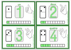 Cartes à compter en maternelle Writing Numbers, Math Numbers, New Class, Teaching French, Home Schooling, Elementary Math, Montessori, Preschool, Printables