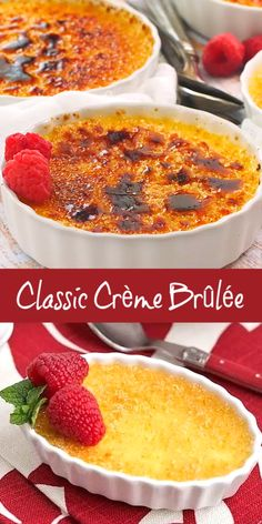 Classic Crème Brûlée - a fabulous vanilla custard topped with a thin layer of brittle caramelized sugar Thermomix Desserts, Homemade Desserts, Best Dessert Recipes, Sweet Recipes, Holiday Recipes, Elegant Desserts, Easy Desserts, Delicious Desserts, Creme Brulee