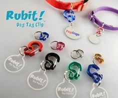 RUBIT Dog Pet Tag CLIP ID Silencer Holder Quick Release
