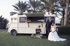 Food Truck at a wedding? Yes please. Perfect for late night snacks to fuel dancing till dawn! Rebecca Rees Photography