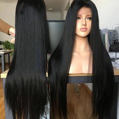 Black Lace Frontal Straight Wigs Black Straight Hair Wig - Care - Skin care , beauty ideas and skin care tips Black Men Haircuts, Black Girls Hairstyles, Straight Hairstyles, Frontal Hairstyles, Wig Hairstyles, School Hairstyles, Short Hair Wigs, Human Hair Wigs, Black Hair Pale Skin