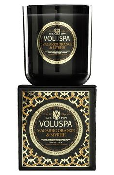 Voluspa Maison 12 oz Boxed Candle  Vacarro Orange  Myrrh ** This is an Amazon Affiliate link. Check out this great product.