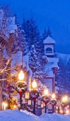 Christmas in Elk Avenue, Crested Butte, Colorado