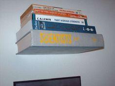 Invisible bookshelf!