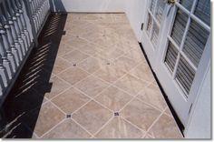 Balcony tile layout