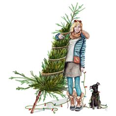 commissioned christmas illustration by tracy hetzel