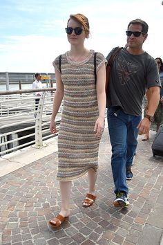 Emma Stone is seen arriving at Venice Airport during the 73rd Venice Film Festival on August 30 2016 in Venice Italy