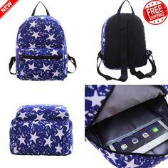 04be3880fa Canvas Mini Backpacks for Women Girls School Backpacks Boys Kids Softback  Blue  General Cestovanie S