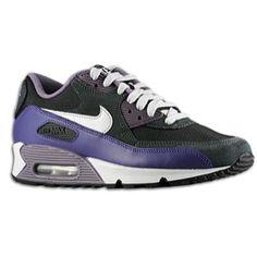 Nike Air Max 90 - Women's - Black/Natural Grey/Anthracite/Court Purple